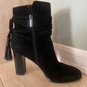 Black suede booties size 8 1/2